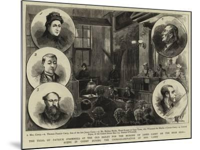 The Trial of Patrick O'Donnell at the Old Bailey for the Murder of James Carey on the High Seas--Mounted Giclee Print