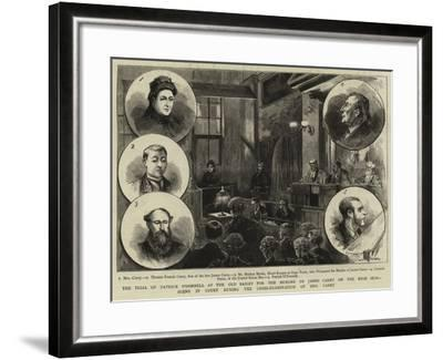The Trial of Patrick O'Donnell at the Old Bailey for the Murder of James Carey on the High Seas--Framed Giclee Print