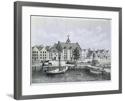 The Stadthuys of New York in 1679--Framed Giclee Print