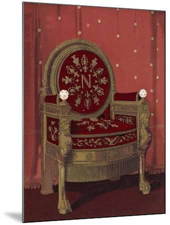 Throne of Napoleon I--Mounted Giclee Print