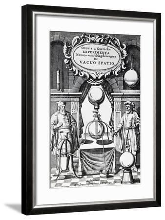 Vacuum Creation Pump on Title Page of Experimenta Nova (Ut Vocantur) Magdeburgica De Vacuo Spatio--Framed Giclee Print