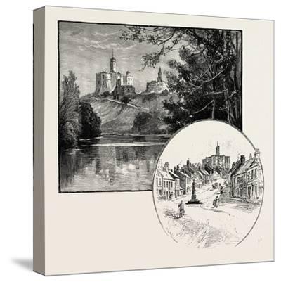 Warkworth Castle (Left)--Stretched Canvas Print