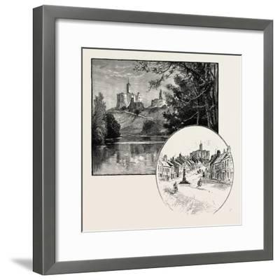 Warkworth Castle (Left)--Framed Giclee Print