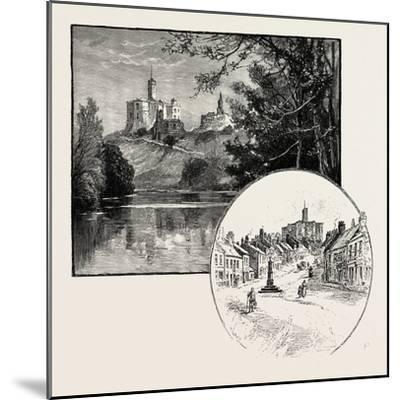 Warkworth Castle (Left)--Mounted Giclee Print