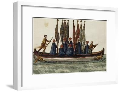 Venetian Boat Decked Out For--Framed Giclee Print