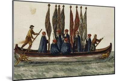 Venetian Boat Decked Out For--Mounted Giclee Print