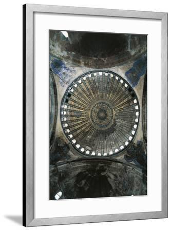 View of Interior of Dome of Hagia Sophia--Framed Premium Photographic Print