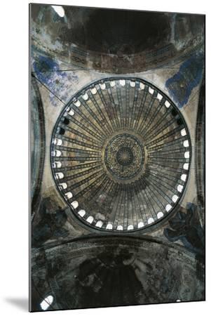 View of Interior of Dome of Hagia Sophia--Mounted Premium Photographic Print