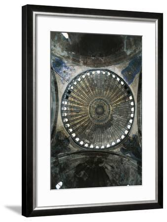 View of Interior of Dome of Hagia Sophia--Framed Photographic Print