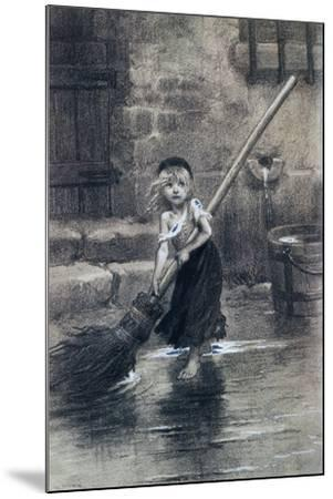 Young Cosette--Mounted Giclee Print