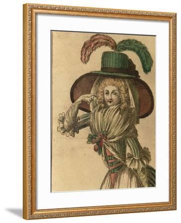 Women's Fashion Plate from Fashion Periodical La Donna Galante Ed Erudita--Framed Giclee Print