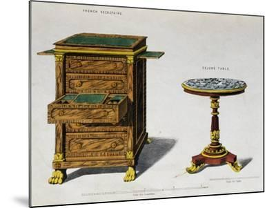 Writing Desk and Breakfast Coffee Table by George Smith from Cabinet Maker and Upholsterer's Guide--Mounted Giclee Print