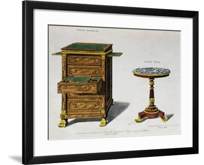 Writing Desk and Breakfast Coffee Table by George Smith from Cabinet Maker and Upholsterer's Guide--Framed Giclee Print