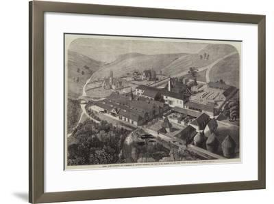 Model Farm Buildings and Workshops at Longleat, Wiltshire, the Seat of the Marquis of Bath--Framed Giclee Print