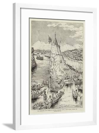 The Whirlpool and Pagoda of Kalewa, Chindwin River, Upper Burma, During the Water Festival--Framed Giclee Print
