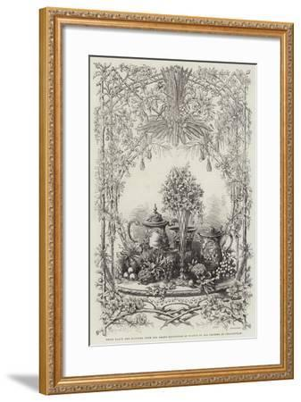 Prize Plate and Flowers, from the Grand Exhibition of Plants of All Nations, at Cheltenham--Framed Giclee Print