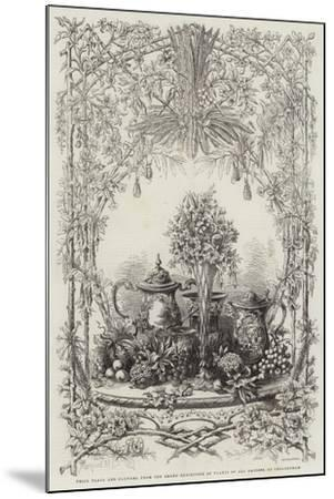 Prize Plate and Flowers, from the Grand Exhibition of Plants of All Nations, at Cheltenham--Mounted Giclee Print