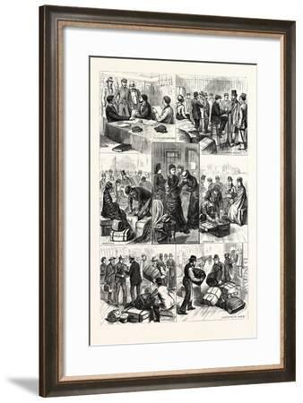 New York: the Terror of Ocean Travelers, a Day with a Custom House Inspector. U.S., 1880 1881--Framed Giclee Print