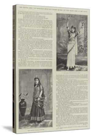 The Nautch Girl, an Interview with Miss Lenore Snyder and Miss Jessie Bond at the Savoy--Stretched Canvas Print