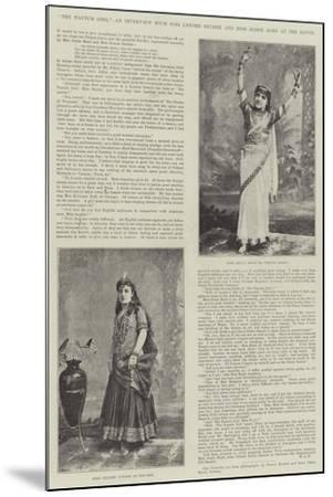 The Nautch Girl, an Interview with Miss Lenore Snyder and Miss Jessie Bond at the Savoy--Mounted Giclee Print