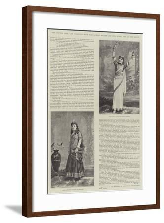 The Nautch Girl, an Interview with Miss Lenore Snyder and Miss Jessie Bond at the Savoy--Framed Giclee Print