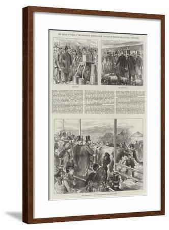 The Prince of Wales at the Dorchester Meeting, Bath and West of England Agricultural Association--Framed Giclee Print