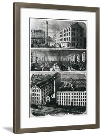 General View of John Brimsmead and Sons Pianoforte Works, Grafton Road, Kentish Town, London--Framed Giclee Print