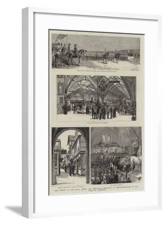 The Opening of the Royal Mining and Industrial Exhibition at Newcastle-On-Tyne by the Duke of Cambr--Framed Giclee Print