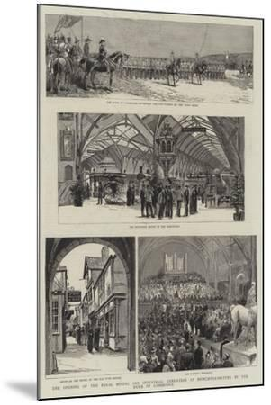 The Opening of the Royal Mining and Industrial Exhibition at Newcastle-On-Tyne by the Duke of Cambr--Mounted Giclee Print