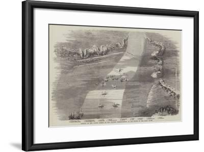 Attack by the Allied Forces on the Chinese Fortifications at the Mouth of the Peiho River--Framed Giclee Print