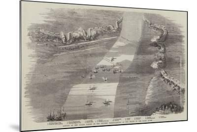 Attack by the Allied Forces on the Chinese Fortifications at the Mouth of the Peiho River--Mounted Giclee Print