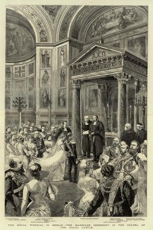 The Royal Wedding in Berlin, the Marriage Ceremony in the Chapel of the Royal Castle--Framed Giclee Print