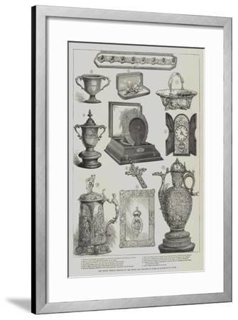 The Silver Wedding Presents to the Prince and Princess of Wales at Marlborough House--Framed Giclee Print