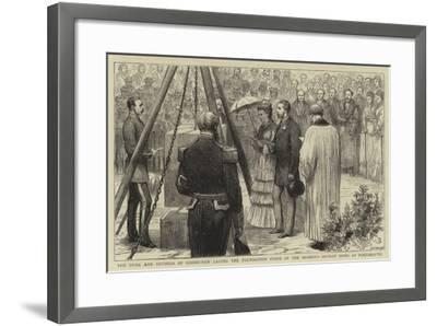 The Duke and Duchess of Edinburgh Laying the Foundation Stone of the Seaman's Orphan Home at Portsm--Framed Giclee Print