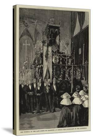 The Funeral of the Late Comte De Chambord at Goritz, the Catafalque in the Cathedral--Stretched Canvas Print