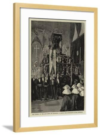 The Funeral of the Late Comte De Chambord at Goritz, the Catafalque in the Cathedral--Framed Giclee Print
