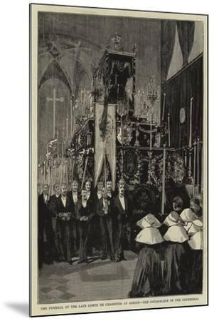 The Funeral of the Late Comte De Chambord at Goritz, the Catafalque in the Cathedral--Mounted Giclee Print