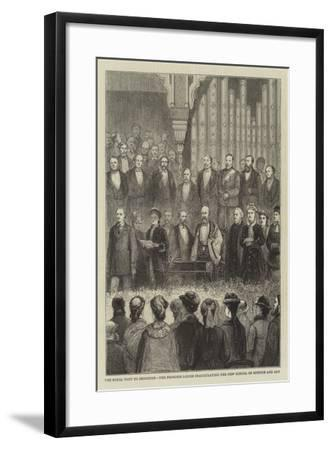 The Royal Visit to Brighton, the Princess Louise Inaugurating the New School of Science and Art--Framed Giclee Print