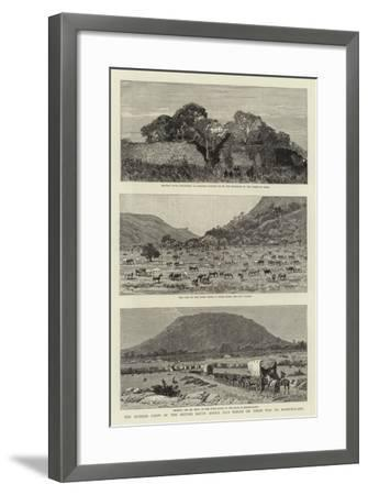 The Pioneer Corps of the British South Africa Co's Forces on their Way to Mashonaland--Framed Giclee Print