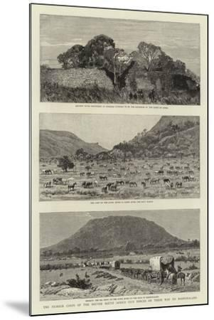 The Pioneer Corps of the British South Africa Co's Forces on their Way to Mashonaland--Mounted Giclee Print