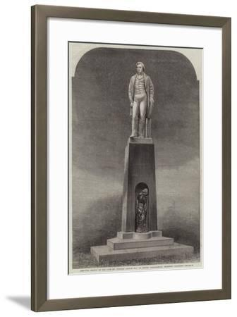 Memorial Statue of the Late Mr Herbert Ingram, Mp, at Boston, Lincolnshire, Recently Completed--Framed Giclee Print