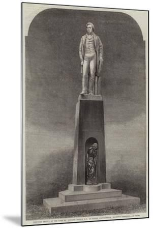Memorial Statue of the Late Mr Herbert Ingram, Mp, at Boston, Lincolnshire, Recently Completed--Mounted Giclee Print