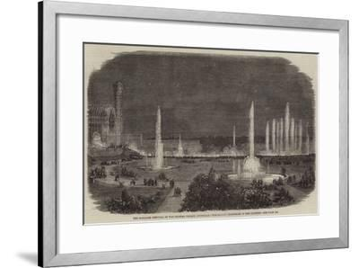 The Schiller Festival at the Crystal Palace, Sydenham, Torchlight Procession in the Grounds--Framed Giclee Print