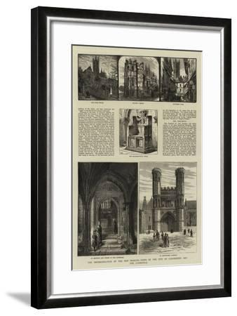 The Enthronisation of the New Primate, Views of the City of Canterbury and the Cathedral--Framed Giclee Print