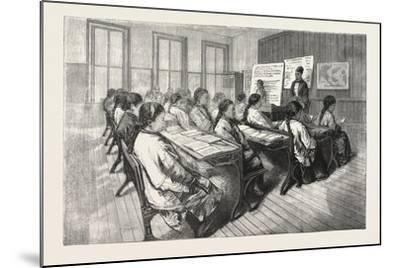 Chinese Mission School, San Francisco, 1876, USA, America, United States--Mounted Giclee Print