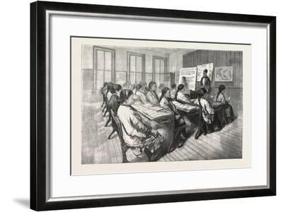 Chinese Mission School, San Francisco, 1876, USA, America, United States--Framed Giclee Print