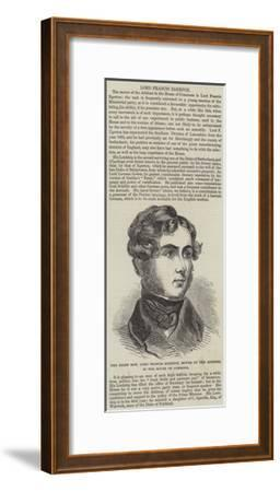 The Right Honourable Lord Francis Egerton, Mover of the Address, in the House of Commons--Framed Giclee Print