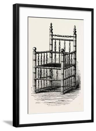 Brewster's Chair, Preserved at Pilgrim Hall, New Plymouth, USA, 1870S--Framed Giclee Print