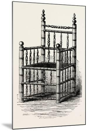 Brewster's Chair, Preserved at Pilgrim Hall, New Plymouth, USA, 1870S--Mounted Giclee Print