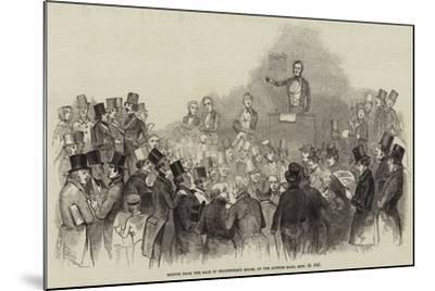 Sketch from the Sale of Shakespere's House, at the Auction Mart, 16 September 1847--Mounted Giclee Print